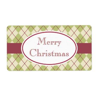 Classic Argyle Christmas Labels
