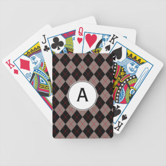 Classic Argyle Monogrammed Playing Cards