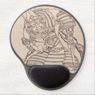 Classic armored samurai warrior Hokusai sketch art Gel Mouse Pad