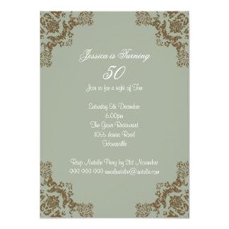 Classic art deco 4.5x6.25 paper invitation card