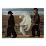 Classic art Wounded Angel poster print