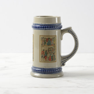 Classic Asian antique panel Beer Stein
