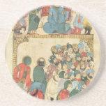 Classic Asian antique panel Coaster
