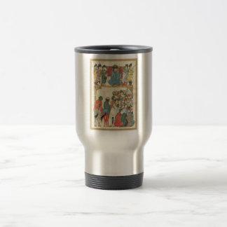 Classic Asian antique panel Travel Mug