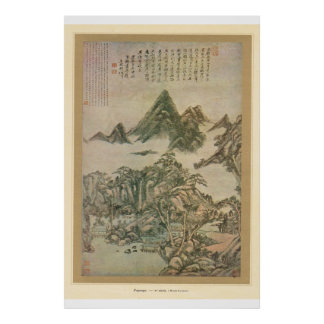 Classic Asian Art Chinese 10th Century Countryside Poster