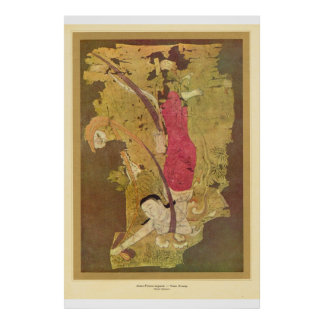 Classic Asian Art, country people Posters
