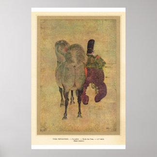 Classic Asian Art Horseman Posters