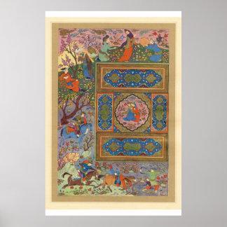 Classic Asian Art Hunting scene Print