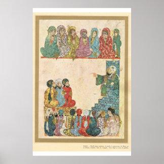 Classic Asian Art Islamic preacher Poster