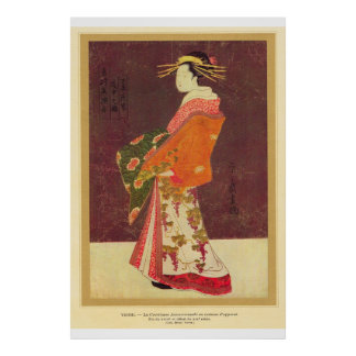 Classic Asian Art Japanese Geisha Poster