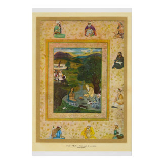 Classic Asian Art Mughal India 17th century Poster