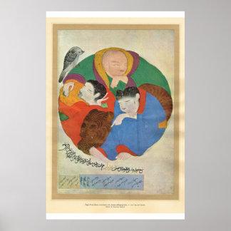 Classic Asian Art Turkey, 13th century Poster