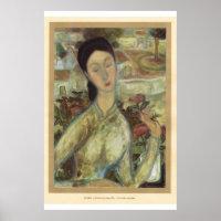 Classic Asian Art Vietnamese girl, Poster