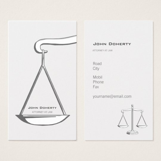 Classic ATTORNEY AT LAW | Elegant Business Card
