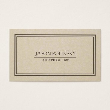 Lawyer Themed Classic Attorney Business Card