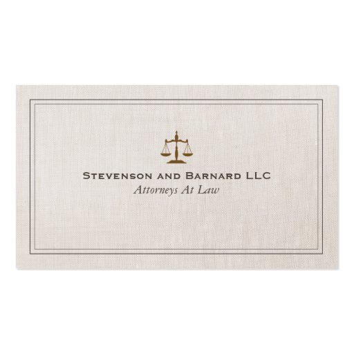 Classic Attorney Business Card