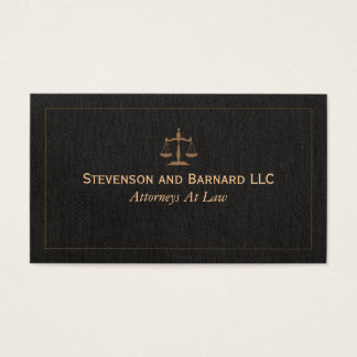 Classic Attorney Faux Linen Business Card