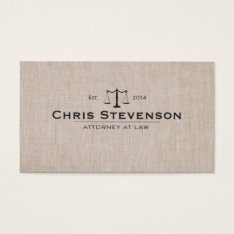 Classic Attorney Justice Scale Masculine Business Card at Zazzle