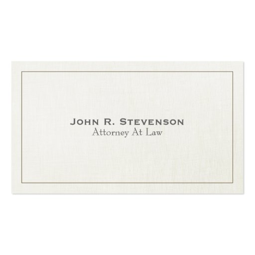 Classic Attorney Soft Linen Look Double Sided Standard