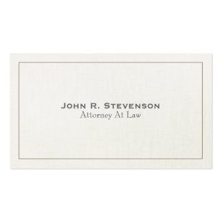 Classic Attorney Soft Linen Look Double-Sided Standard Business Cards (Pack Of 100)