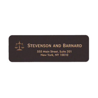 Classic AttorneyReturn Address Labels