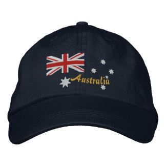 Classic Australian Flag Embroidery Embroidered Baseball Cap
