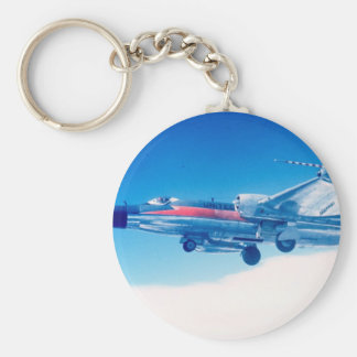 Classic aviation B-57 plane photograph print Keychain