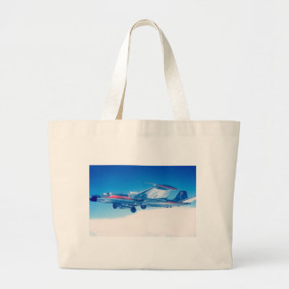 Classic aviation B-57 plane photograph print Large Tote Bag