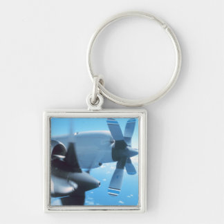 Classic aviation plane photograph print keychain