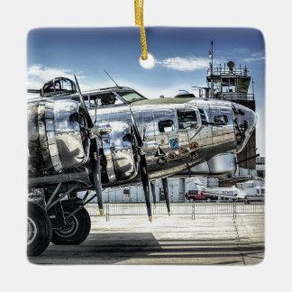 Classic b-17 wwii bomber ceramic ornament