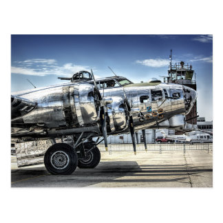 Classic b-17 wwii bomber postcard