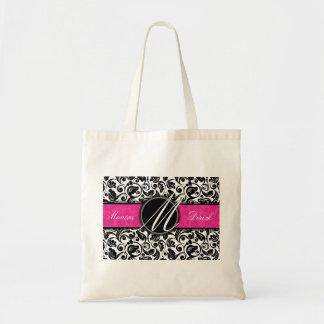 Classic B & W & O pattern design wedding  bag