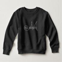 Classic Baby | Monogram Name Black and White Chic Sweatshirt