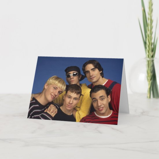 Classic Backstreet Boys Photo Card