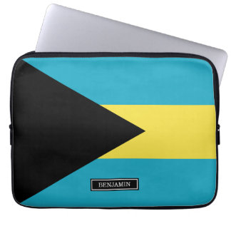 Classic Bahamian Flag Computer Sleeve