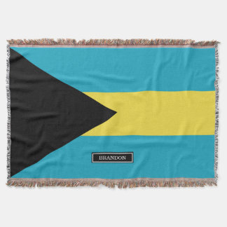 Classic Bahamian Flag Throw Blanket