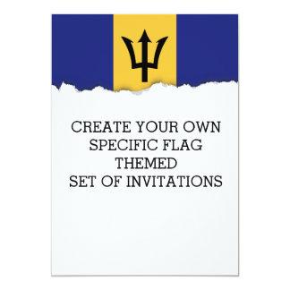 Classic Barbados Flag Card