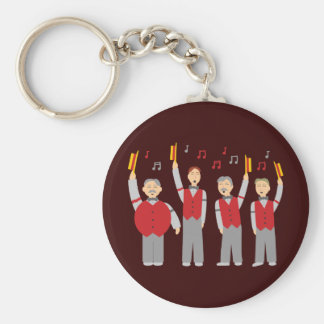 Classic Barbershop Quartet Basic Round Button Keychain