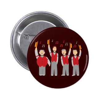 Classic Barbershop Quartet Pinback Button