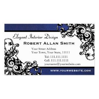 Damask interior designer business card zazzle - Vintage Baroque Designs Business Cards Amp Templates Zazzle