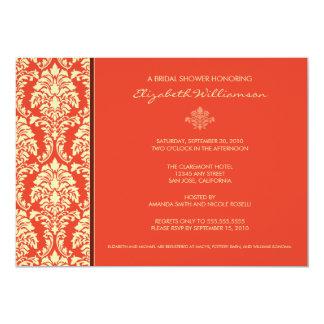 Classic Baroque Bridal Shower Invitation (coral)