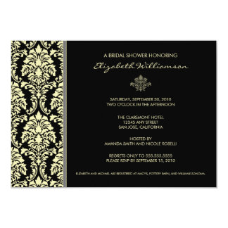 Classic Baroque Bridal Shower Invitation (ebony)