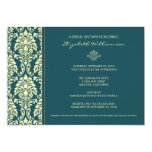 Classic Baroque Bridal Shower Invitation (teal)