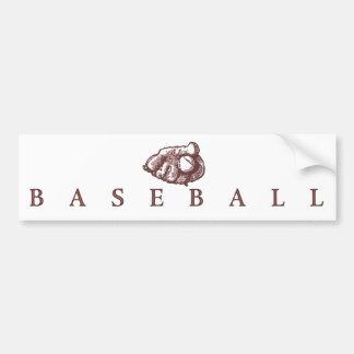 Classic Baseball with Glove Logo Bumper Sticker
