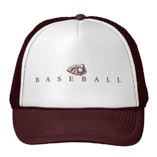 Classic Baseball with Glove Logo Trucker Hat