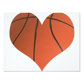 Classic Basketball Cut In A Heart Shape Card