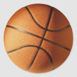 CLASSIC BASKETBALL ROUND STICKERS