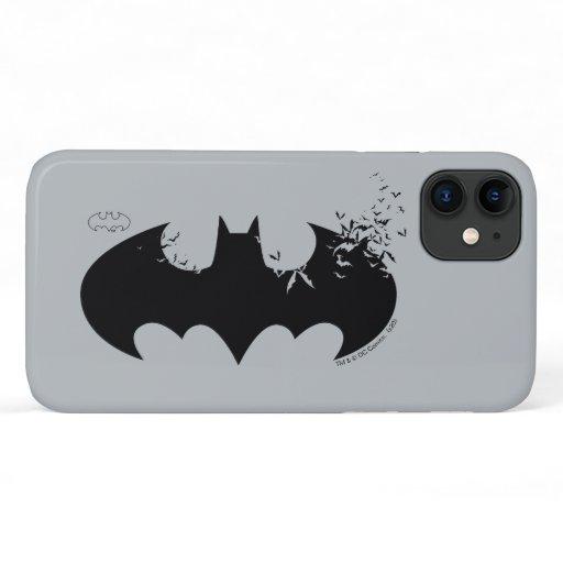 Classic Batman Logo Dissolving Into Bats iPhone 11 Case