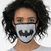 Classic Batman Logo Dissolving Into Bats Face Mask