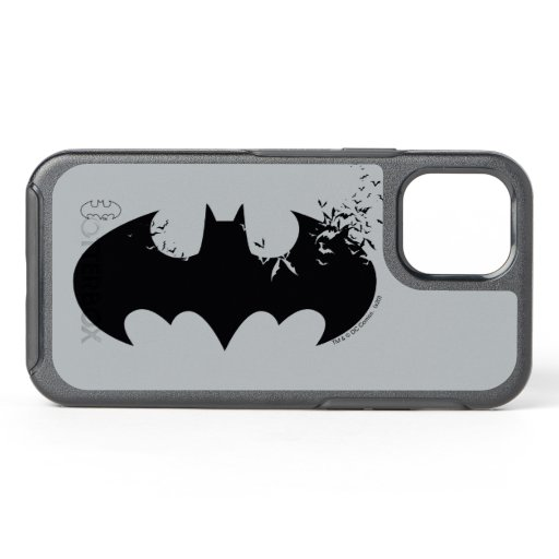 Classic Batman Logo Dissolving Into Bats OtterBox Symmetry iPhone 12 Case